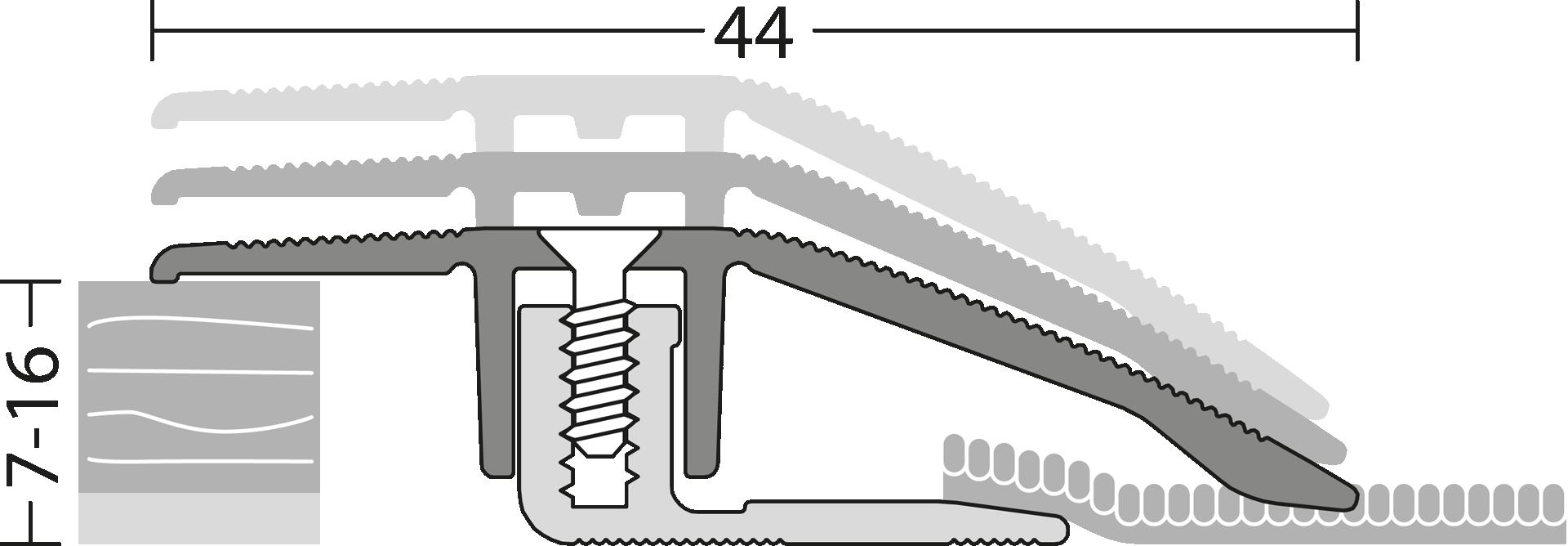 Anpassungsprofil Parkett & Laminatböden Detail